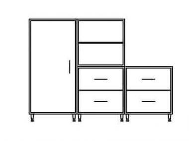 Hale Cubed Line Drawing